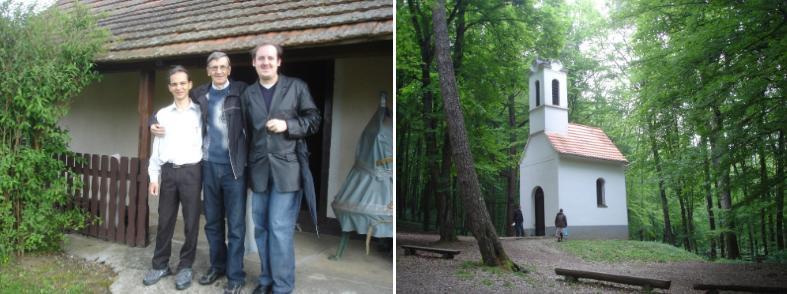 Balra: látogatás a Muravidéken. Jobbra: a Szent Vid-kápolna.