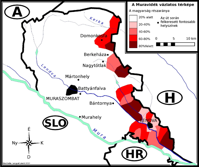 Magyar lakosság aránya a Muravidéken