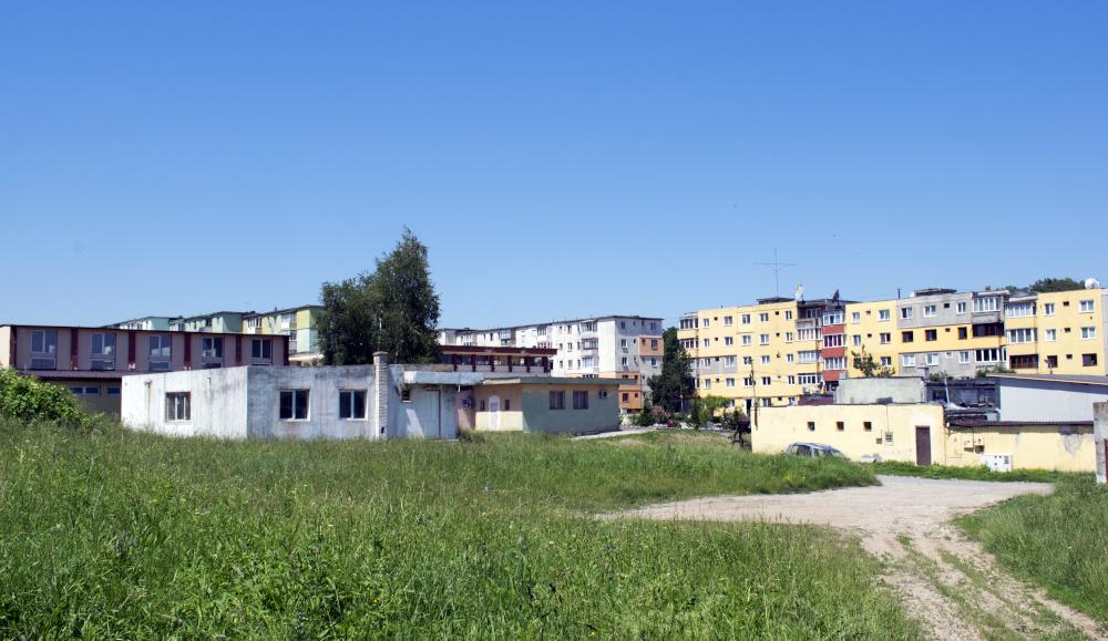 A cementgyár lakótelepe