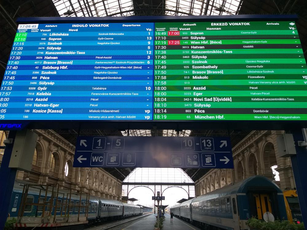 Már magyarul is olvashatók a külhoni városnevek a Keleti Pályaudvaron