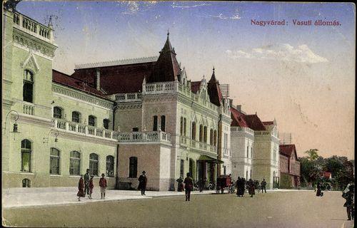 Nagyvárad vasútállomása 1915-ben