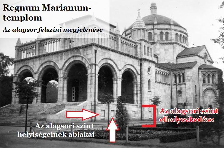 A képen látszik, hogy a templom alig terjeszkedett a föld alá