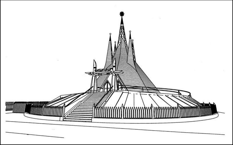 A tégláskerti református templom rajza