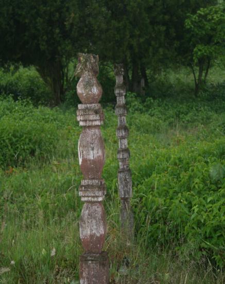 Fejfák a gyóni temetőben
