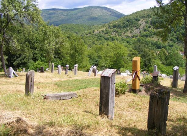 Fejfás temető Jósvafőn (Abaúj-Torna várm., jelenleg Borsod-Abaúj-Zemplén)
