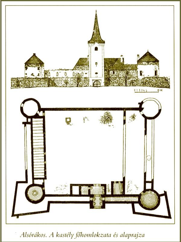 A főhomlokzat és alaprajz (Forrás: www.varak.hu)