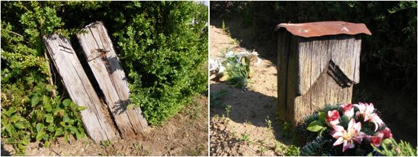 Gonfák az imregi temetőben