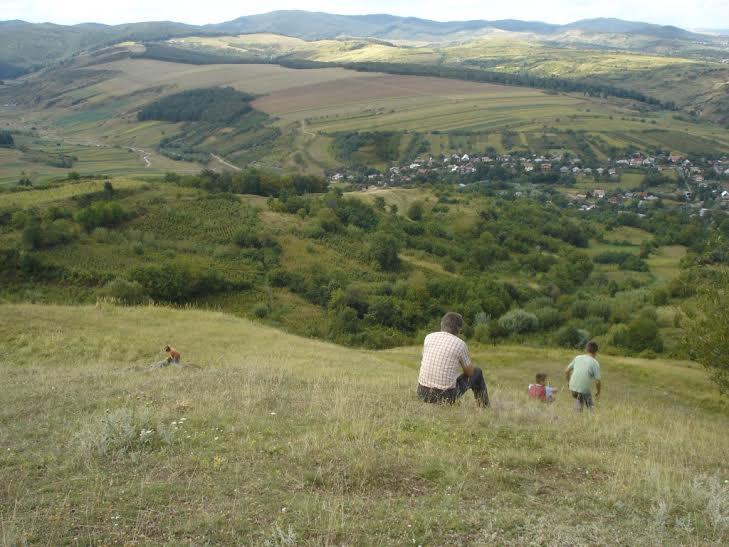 Kilátás a Táltos-hegyről Klézsére