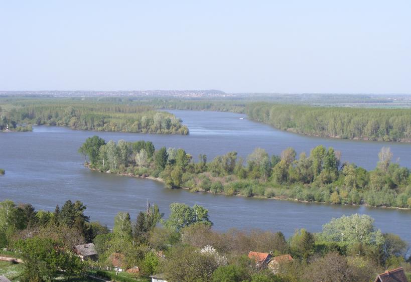 Ahol a Duna és a Tisza ölelkeznek… A távolban Titel városa és löszdombja látszik