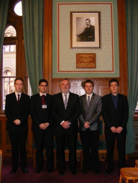 Egyesületünk küldöttsége Pánczél Károllyal, a NÖB elnökével
