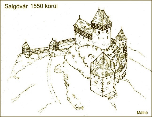 Salgó várának rekonstruált látképe (jupiter.elte.hu)