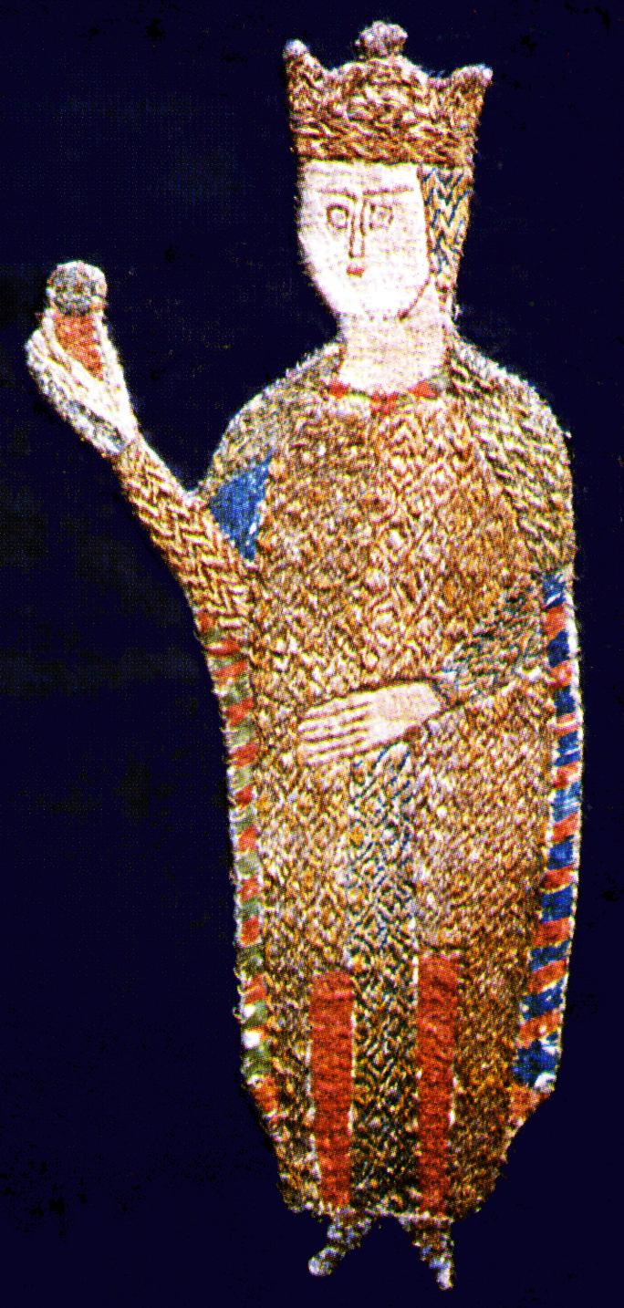 Szent László király ábrázolása az általa Zágrábnak ajándékozott paláston (Forrás: Váralljai Csocsán Jenő: Szent László király Árpád-kori ábrázolásai)