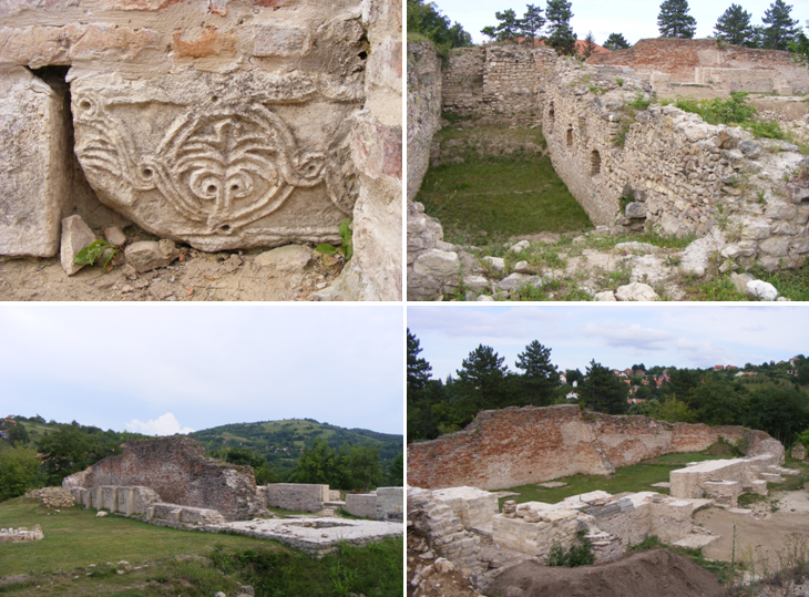 A dombói apátság romjai