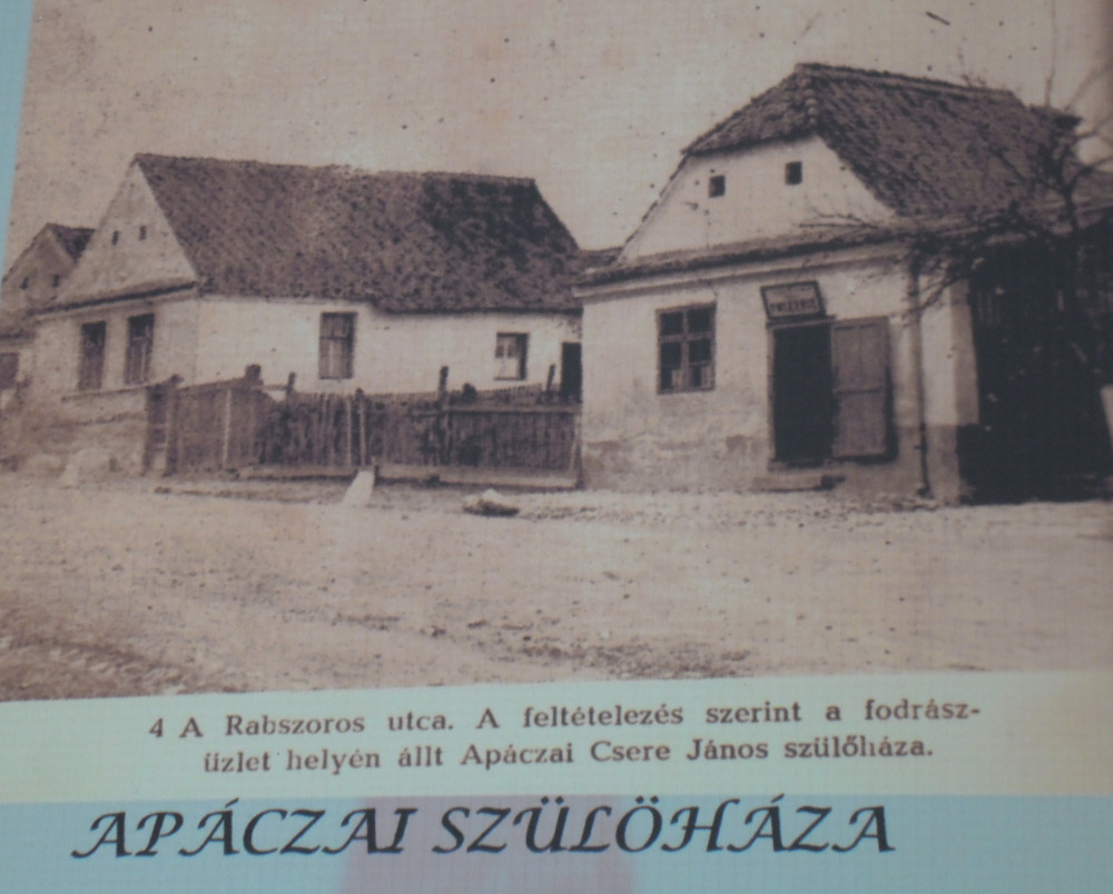 Itt született Apáczai Csere János (Forrás: Apácai emlékkiállítás)