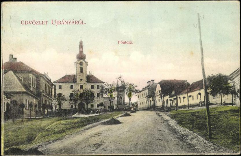 A régi Újbánya látképe
